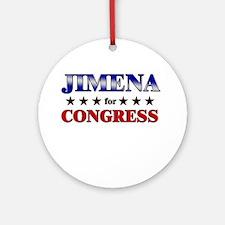 JIMENA for congress Ornament (Round)
