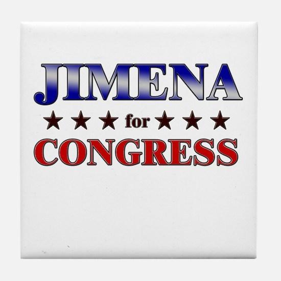 JIMENA for congress Tile Coaster