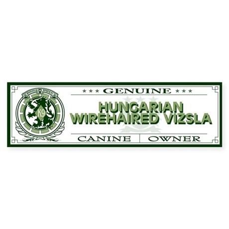 HUNGARIAN WIREHAIRED VIZSLA Bumper Sticker
