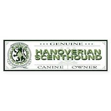 HANOVERIAN SCENTHOUND Bumper Bumper Sticker