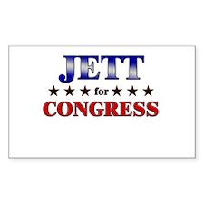 JETT for congress Rectangle Decal