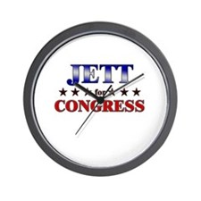 JETT for congress Wall Clock