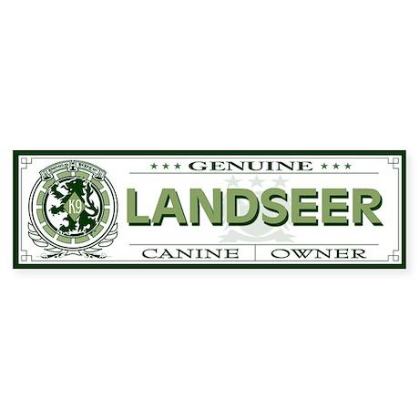 LANDSEER Bumper Sticker