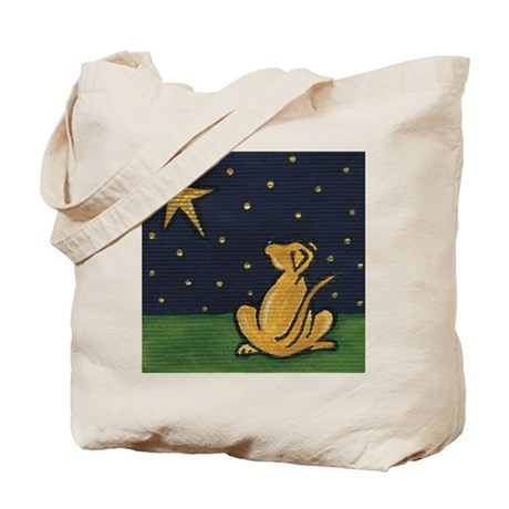 Starry Eyed Lab Tote Bag