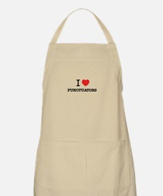 I Love PUNCTUATORS Apron