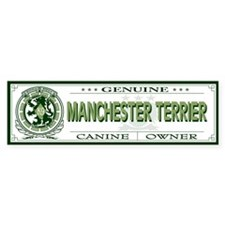 MANCHESTER TERRIER Bumper Car Sticker