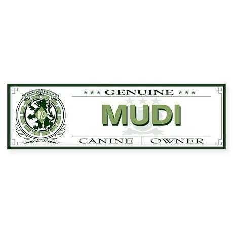 MUDI Bumper Sticker