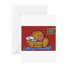 Napping Westie... Greeting Card