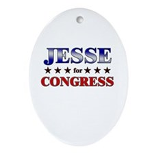 JESSE for congress Oval Ornament