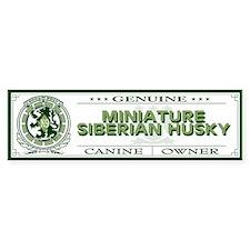 MINIATURE SIBERIAN HUSKY Bumper Bumper Sticker