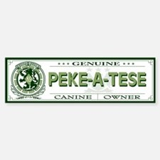 PEKE-A-TESE Bumper Bumper Bumper Sticker