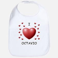 I Love Octavio - Bib