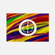 Gay rainbow compass art Magnets