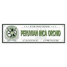 PERUVIAN INCA ORCHID Bumper Bumper Sticker