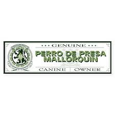 PERRO DE PRESA MALLORQUIN Bumper Bumper Sticker