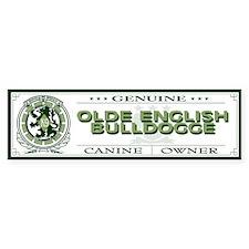 OLDE ENGLISH BULLDOGGE Bumper Bumper Sticker