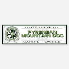 PYRENEAN MOUNTAIN DOG Bumper Car Car Sticker