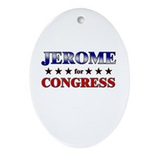 JEROME for congress Oval Ornament