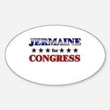 JERMAINE for congress Oval Decal
