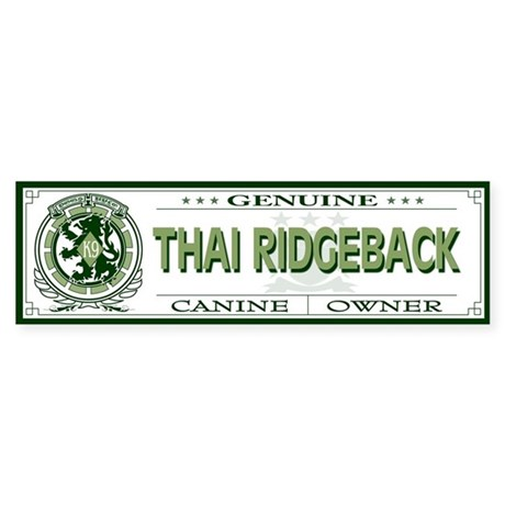 THAI RIDGEBACK Bumper Sticker