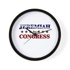 JEREMIAH for congress Wall Clock