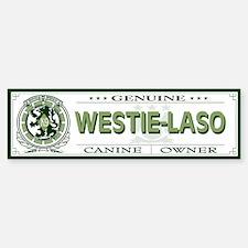 WESTIE-LASO Bumper Bumper Bumper Sticker