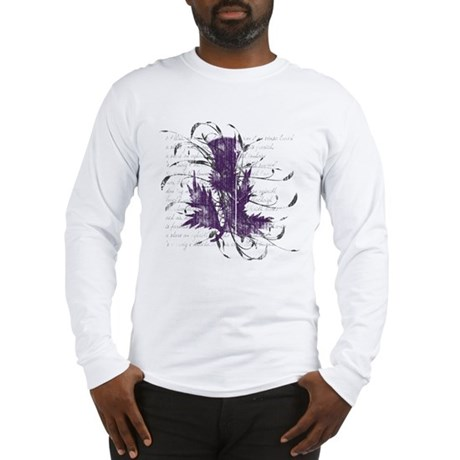 Scottish Thistle Long Sleeve T-Shirt