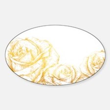 Vintage Roses Floral Gold Decorative Decal
