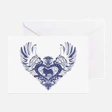 Samoyed Winged Heart Greeting Card