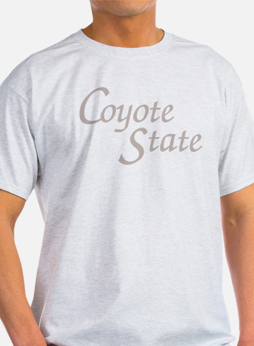 South Dakota Coyote State Ash Grey T-Shirt