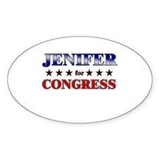 JENIFER for congress Oval Decal