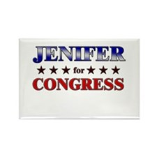 JENIFER for congress Rectangle Magnet