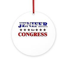 JENIFER for congress Ornament (Round)