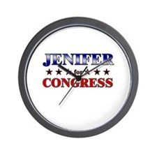 JENIFER for congress Wall Clock