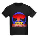 Peace Through Superior Firepo Kids Dark T-Shirt