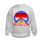 Peace Through Superior Firepo Kids Sweatshirt