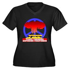 Peace Through Superior Firepo Women's Plus Size V-