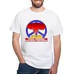 Peace Through Superior Firepo White T-Shirt