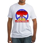 Peace Through Superior Firepo Fitted T-Shirt