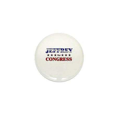 JEFFREY for congress Mini Button