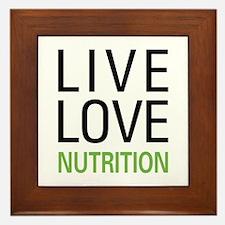 Live Love Nutrition Framed Tile
