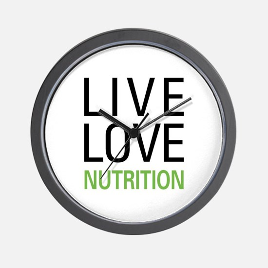 Live Love Nutrition Wall Clock