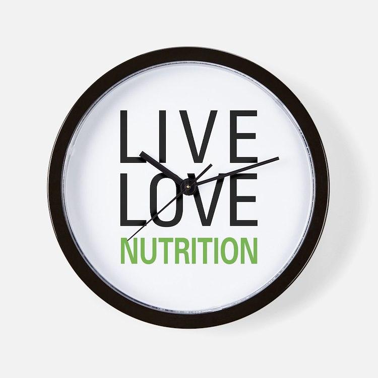 Live Love Nutrition Wall Clock