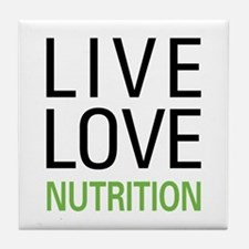 Live Love Nutrition Tile Coaster