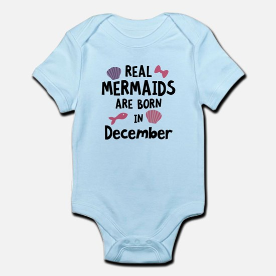 Mermaids are born in December Cgeh6 Body Suit