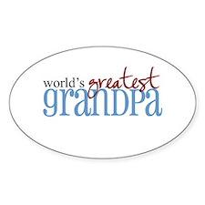 World's Greatest Grandpa Oval Decal