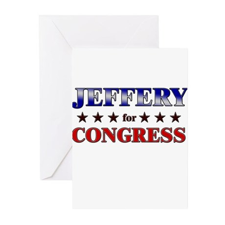 JEFFERY for congress Greeting Cards (Pk of 10)