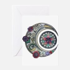 Spiral moon Greeting Cards