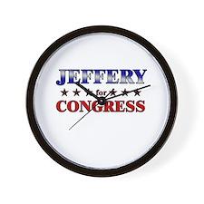 JEFFERY for congress Wall Clock