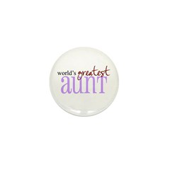 World's Greatest Aunt Mini Button (10 pack)